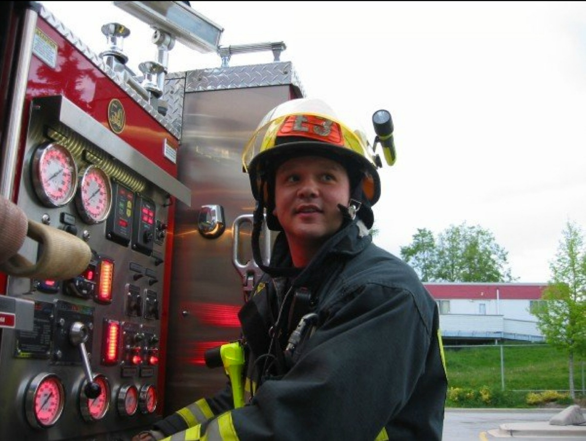 former ice hockey netminder jason wood talks of his career playing fire fighter jay