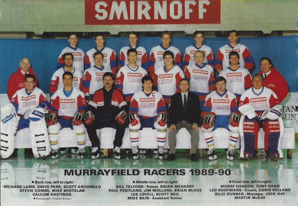 Murrayfield Racers 1989 - 90