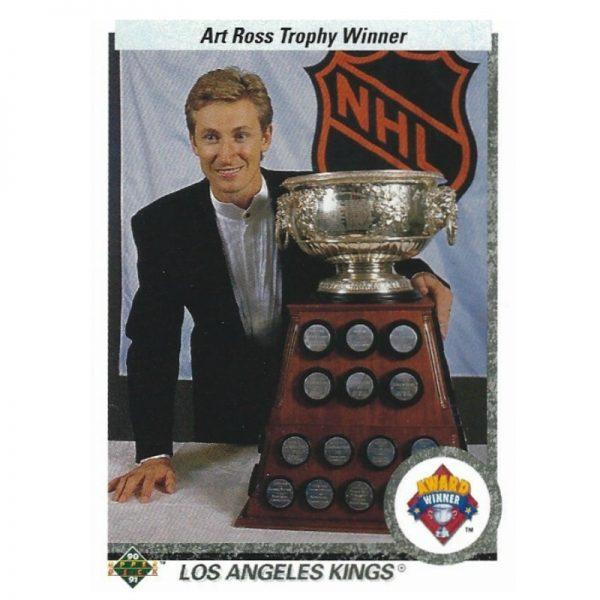 Gretzky UD Timeline 1990-91 205 Front