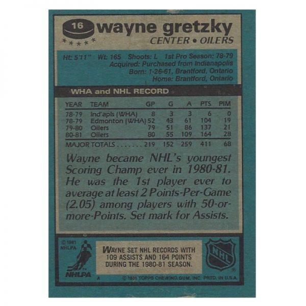 Gretzky Topps 1981 - 16